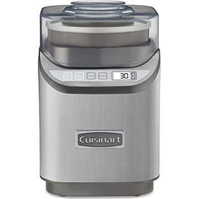 ICE-70 Electronic Ice Cream Maker, Brushed Chrome