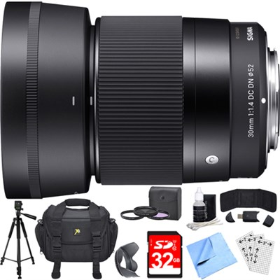 30mm F1.4 DC DN Lens for Sony E Mount Essential Accessory Deluxe Bundle