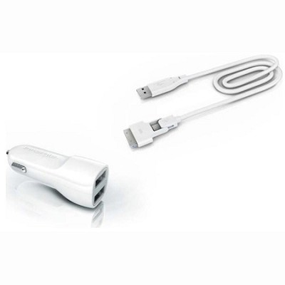 mMini Combo - Duo USB Car Charging Kit with Magic Cable Duo - TADP-10BC AA2