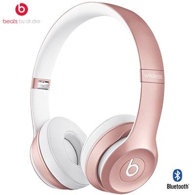 Dr. Dre Solo2 Wireless On-Ear Headphones (Rose Gold) - (Certified Refurbished)