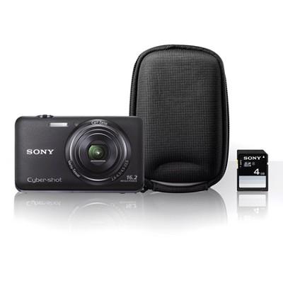 Cyber-shot DSC-WX9 Black Digital Camera Bundle - OPEN BOX