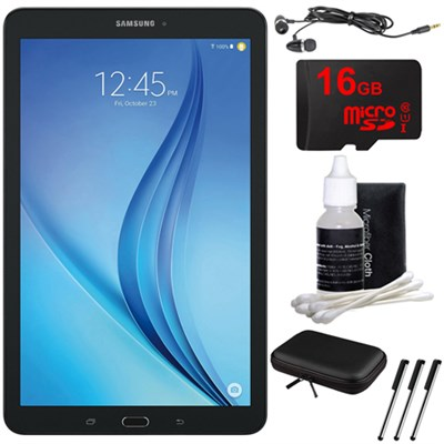 Galaxy Tab E 9.6` 16GB Tablet PC (Wi-Fi) - Black 16GB microSD Card Bundle