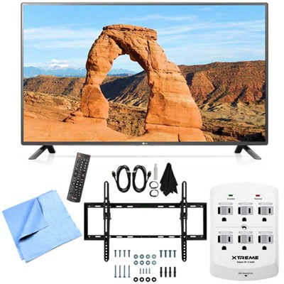 55LF6000 - 55-inch Full HD 1080p 120Hz LED HDTV Tilt Mount & Hook-Up Bundle