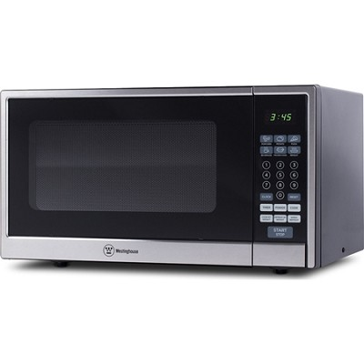 1000W Counter Top Microwave Oven w/ Stainless Steel Front, 1.1 Cubic Feet, Black