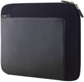 10-Inch Suiter Sleeve Neoprene and Faux Leather Case - Fits Apple iPad (Black)