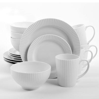 Josephine Dinnerware Wht 16pc