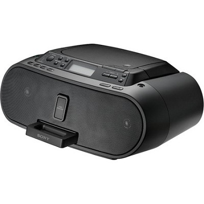 ZS-S2IP Black Boombox with iPod Dock