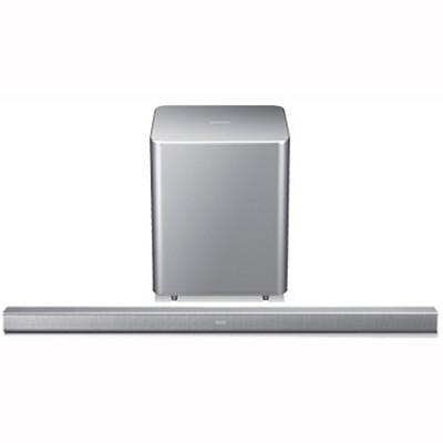HW-F551 - 2.1-ch Wireless Soundbar , Subwoofer & Bluetooth (Silv) OPEN BOX