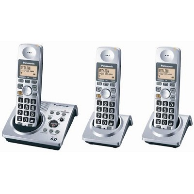 KX-TG1033S Dect 6.0, Digital 3 Handset Expandable Cordless Phone System