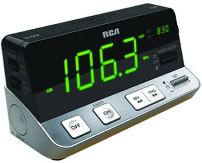 Digital AM/FM Clock Radio - Black