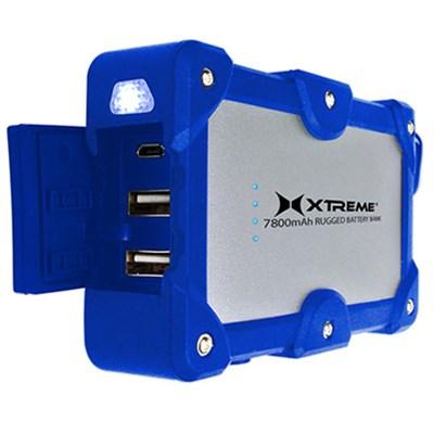2.4Amp Dual Port Weatherproof Power Bank Charger 7800mAh  (Blue)