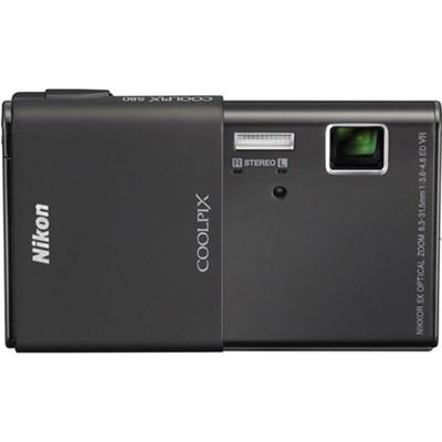 COOLPIX S80 14.1 MP Ultra-Slim 3.5` Touchscreen Black Camera w/ HD Video Refurb