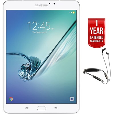 Galaxy Tab S2 8` Wi-Fi Tablet White/32GB +R6 Earbuds +Extended Warranty