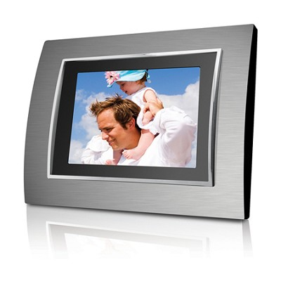8.4` (4:3) Digital Photo Frame with 128M Flash Memory (Metallic Frame - Silver)