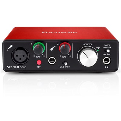 Scarlett Solo USB Audio Interface (2nd Generation) w/Pro Tools - OPEN BOX