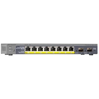 8-Port PoE Gigabit Smart Managed Switch w/ 2 Gigabit SFP Ports - GS110TP-200NAS