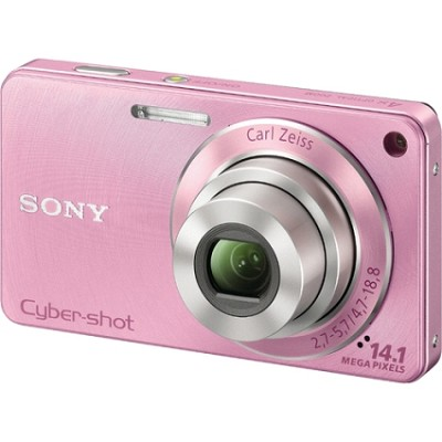 Cyber-shot DSC-W350 14.1 MP Digital Camera (Pink) - Open Box