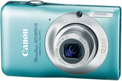 Powershot SD1300 IS 12MP Digital ELPH Camera (Green)
