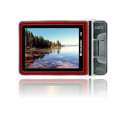 2.4` Color MP3 Video Player 4GB W/Built-in 5MP Digital Camera - Red