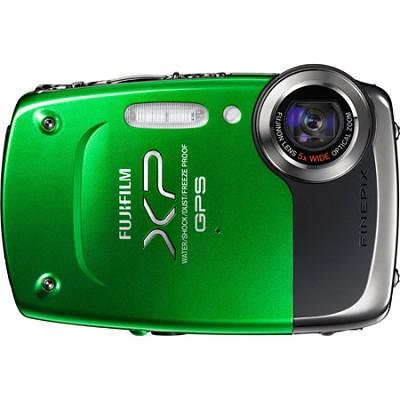 FINEPIX XP30 14 MP Underwater Digital Camera w/Fujinon 5x Zoom Green *TORN BOX*