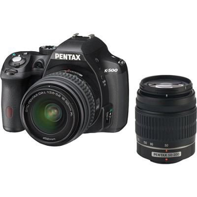 K-500 Digital SLR Camera with 18-55mm f/3.5-5.6 and 50-200mm f/4-5.6 Lenses