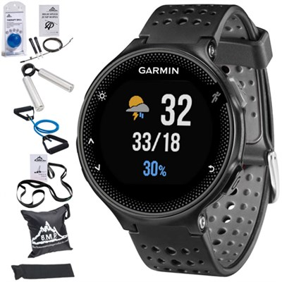 Forerunner 235 GPS Sport Watch w/Wrist-Based HRM Black+7 Pcs Fitness Kit