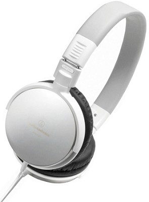 ATH-ES7 Portable Stainless Steel Headphones (White)