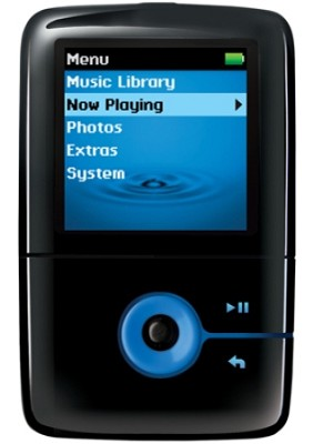 Zen V Plus 4GB Portable Media Player - Black/Blue