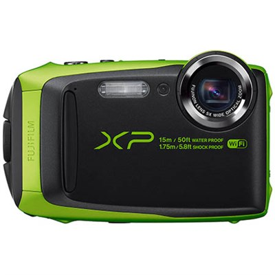 FinePix XP90 16 MP Waterproof Digital Camera with 3-inch LCD - Green