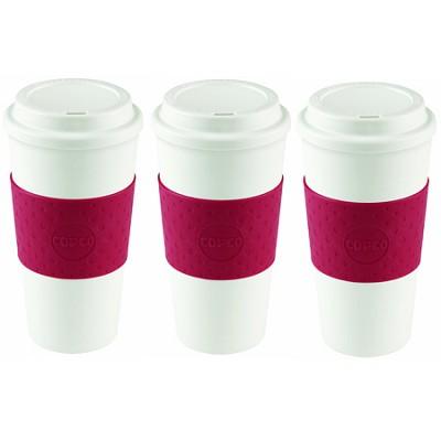 Acadia Travel Mug, 16-Ounce, Cherry Red (2510-9990) 3 Pack Bundle