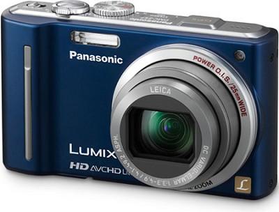 DMC-ZS7A LUMIX 12.1 MP Digital Camera with 16x Intelligent Zoom (Blue) OPEN BOX