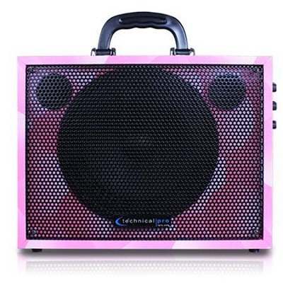 WASP300P Battery Powered PA System with USB Playback - Pink