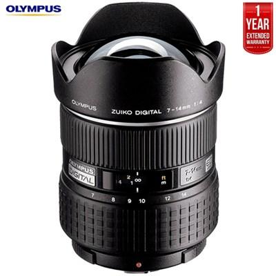 7-14mm f4.0 Zuiko Digital Zoom Lens + 1 Year Extended Warranty (Refurbished)