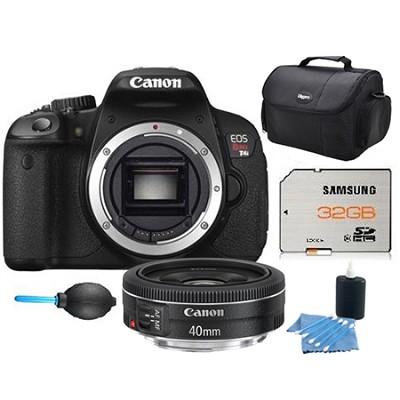 EOS Digital Rebel T5i 18MP SLR Camera w/ 40mm STM Lens and 32GB Memory Bundle