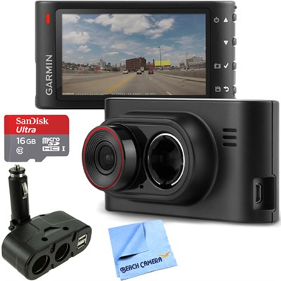 Dash Cam 35 Standalone HD Driving Recorder with GPS 16GB microSD Card Bundle