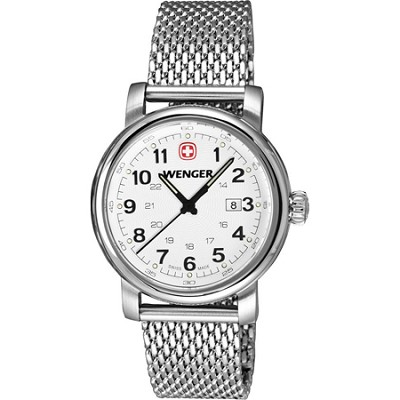 Ladies' Urban Classic Watch - White Textured Dial/Stainless Steel Mesh Bracelet