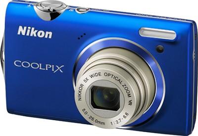 COOLPIX S5100 12MP Slim Blue Digital Camera w/ 720p HD Video