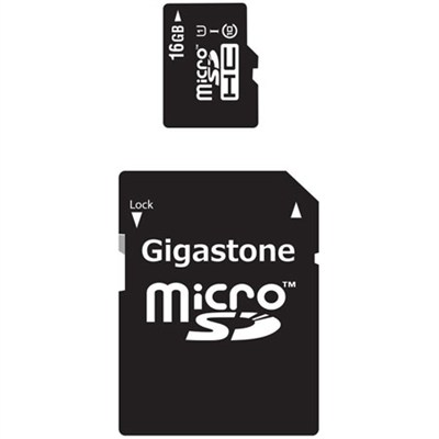 Gigastone MicroSD HC 16GB C10 U1 With SD Adapter
