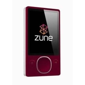 Zune 2nd Generation 80GB Media Player (RED)