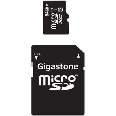 MicroSDXC 64GB C10 U1 with SD Adapter