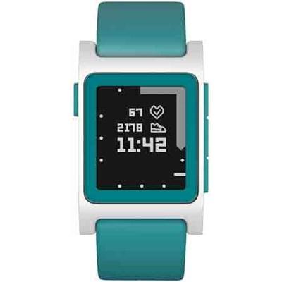 Pebble 2 HR Smartwatch - Aqua/White - 1002-00068