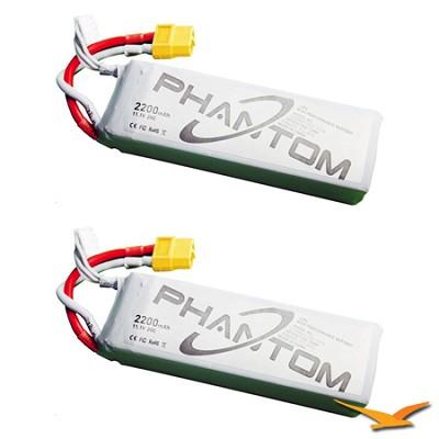Phantom Aerial UAV Drone Quadcopter 2 Replacement Battery Bundle