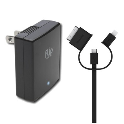 USB/AC Power Adapter & 3-in-1 USB Charger Cable