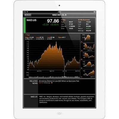 iPad with Retina Disp MD521LL/A (64GB, Wi-Fi + AT&T,White) 4th Gen - REFURBISHED