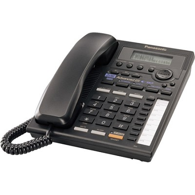 KX-TS3282B 2-Line Integrated Phone System with Intercom, Black
