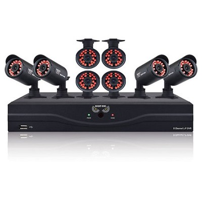 8 Channel 960H Video Security Kit w/ 500GB HDD, HDMI Output - 8 Hi-Res Cameras