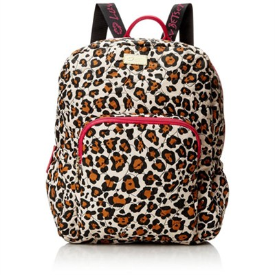 Luv Betsey Grand Quilted Compact Backpack - Leopard