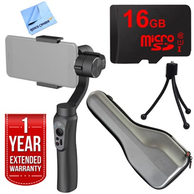 Smooth Q Smartphone Gimbal (Space Gray) with 1 Year Extended Warranty Kit