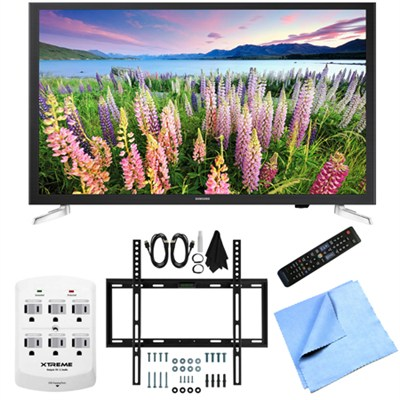 UN32J5205 - 32-Inch Full HD 1080p Smart LED HDTV Slim Flat Wall Mount Bundle