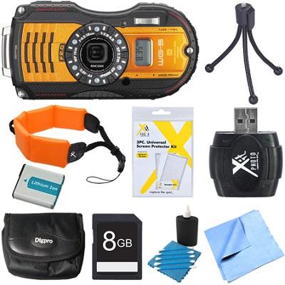 WG-5 GPS 16MP Digital Camera Orange 8GB Bundle
